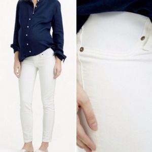 J. Crew Maternity Matchstick White Jeans Size 32
